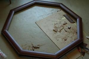 изготовление подлокотника для покерного стола